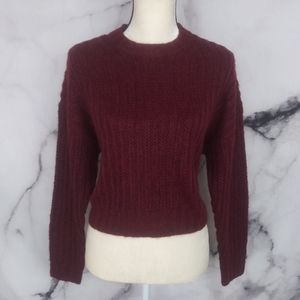 🆕American Eagle Maroon Soft Warm Sweater Small